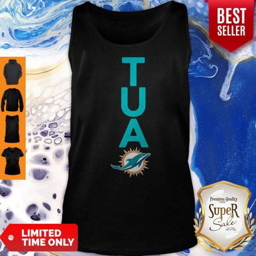 Top Miami Dolphins Tua Logo Tank Top