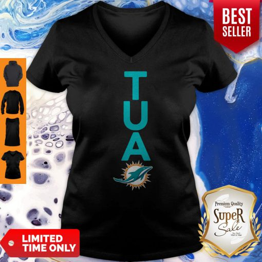 Top Miami Dolphins Tua Logo V-neck