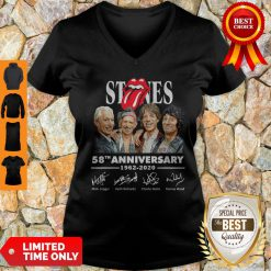Top Rolling Stones 58th Anniversary 1962 2020 Signatures V-neck