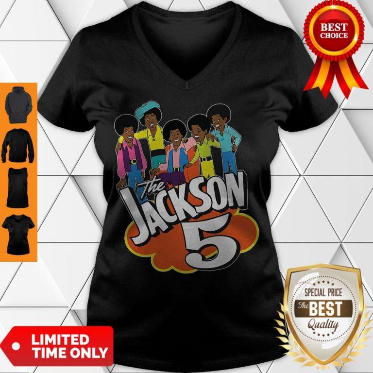 Premium The Jackson 5 Cartoon V-neck