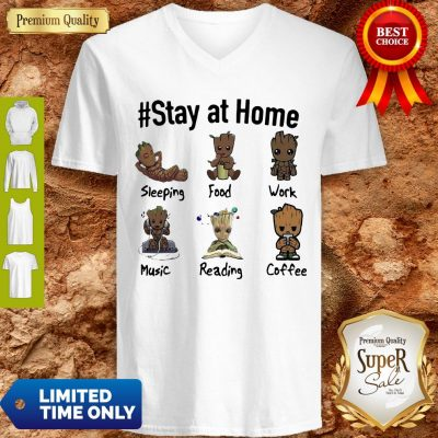 Good Baby Groot #Stay At Home V-neck