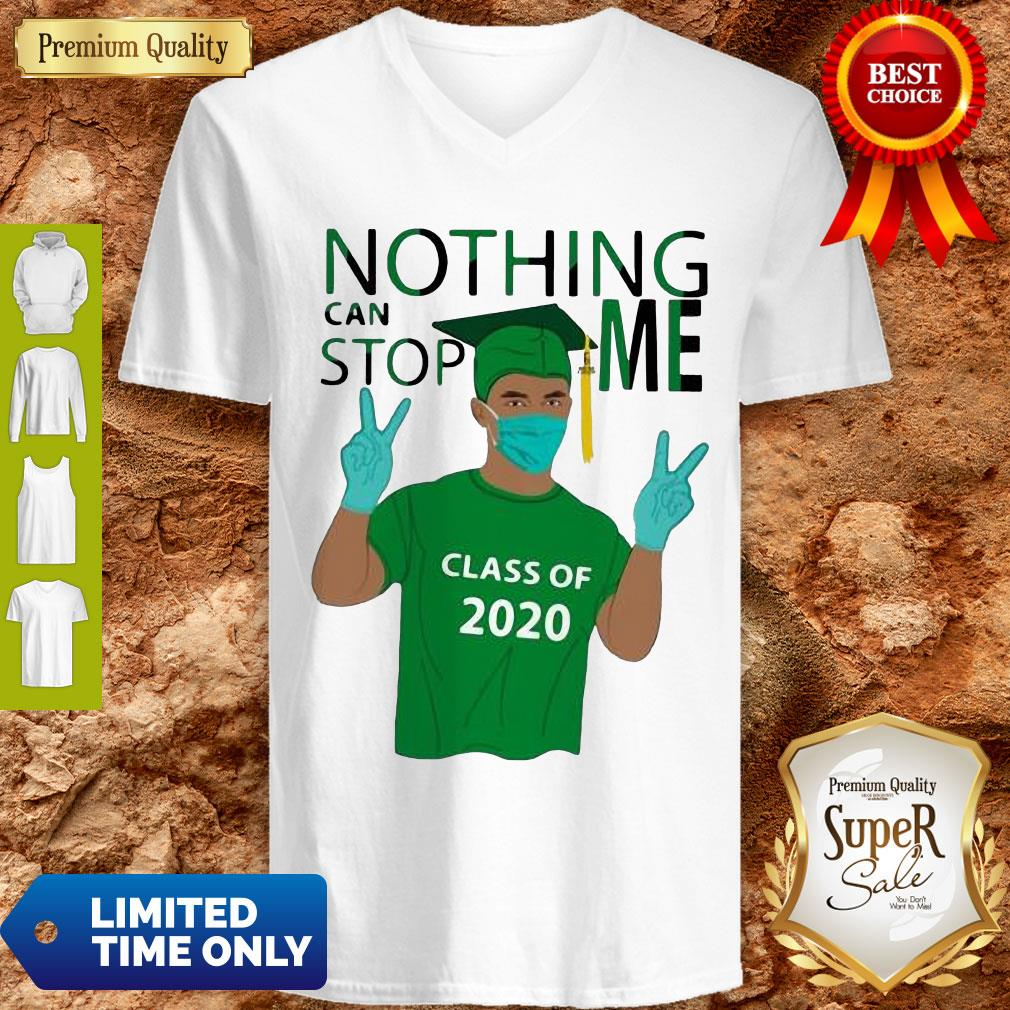 Pretty Boy Nothing Can Stop Me Class Of 2020 Graduation Green V-neck