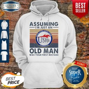 Original United States Hunter Jumper Association Assuming I'm Just An Old Man Was Your First Mistake Vintage Hoodie