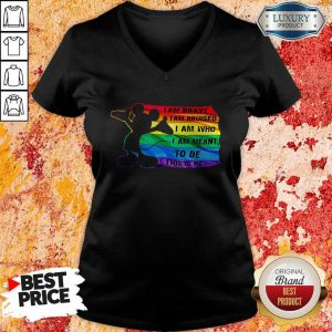 Awesome Mickey Mouse LGBT I Am Brave I Am Bruised I Am Who I Am Meant To Be This Is Me V-neck