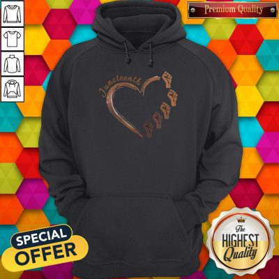 Awesome Strong Hand Heart Juneteenth Hoodie