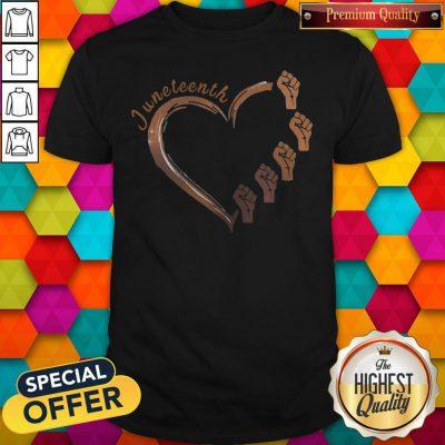 Awesome Strong Hand Heart Juneteenth Shirt