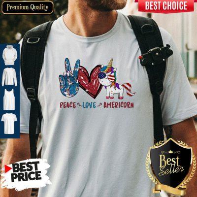 Awesome Unicorn Peace Love Americorn Shirt