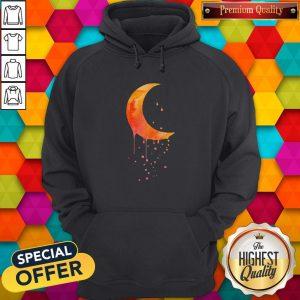 Funny Melting Moon Hoodie