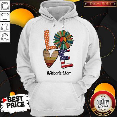 Good Arborist Mom Love Heart Sunflower Vintage Hoodie
