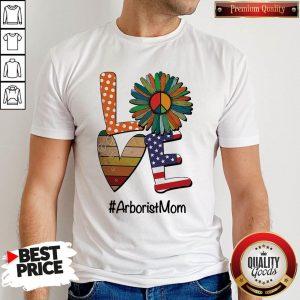 Good Arborist Mom Love Heart Sunflower Vintage Shirt