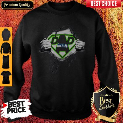 Good Superhero National Football League Seattle Seahawks Father's Day Sweatshirt
