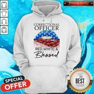 Nice Lip Correctional Officer Red White And Blessed Diamond Hoodie