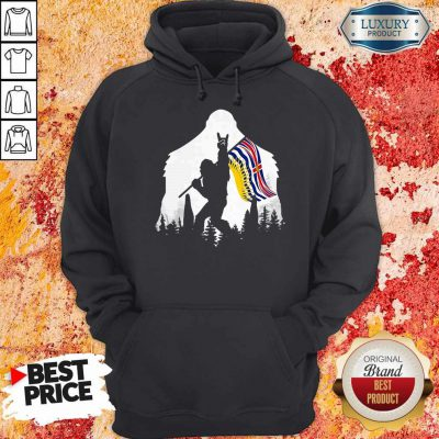 Official Bigfoot British Columbia Flag In The Forest Hoodie