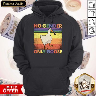 Official LGBT Duck No Gender Only Goose Vintage Hoodie