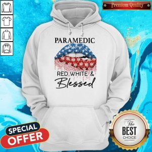 Official Lip Paramedic Red White And Blessed Diamond Hoodie