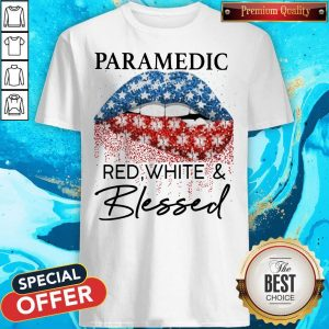 Official Lip Paramedic Red White And Blessed Diamond Shirt