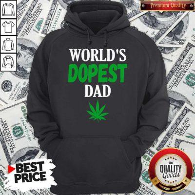 Official Worlds Dopest Dad Weed Marijuana Cannabis Leaf Hoodie