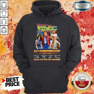 Original Back To The Future 35th Anniversary 1985 2020 Thank You For The Memories Signatures Hoodie