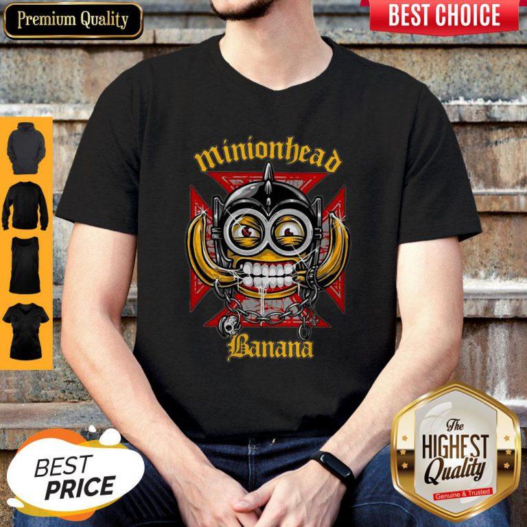 Perfect Minionhead Banana Mashup Motörhead Shirt