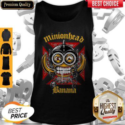 Perfect Minionhead Banana Mashup Motörhead Tank Top