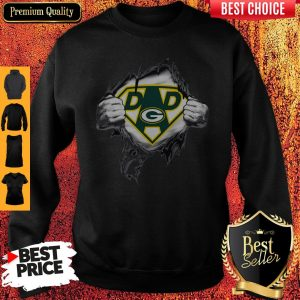 Perfect Superhero Green Bay Packers Father's Day Sweatshirt