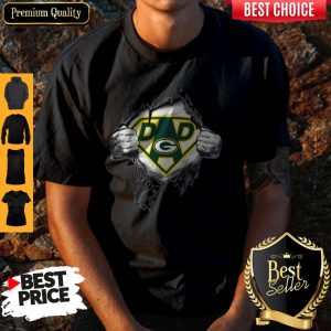 Perfect Superhero Green Bay Packers Father's Day T-Shirt