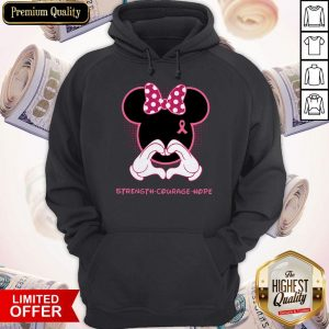 Premium Minnie Mouse Strength Courage Hope Hoodie