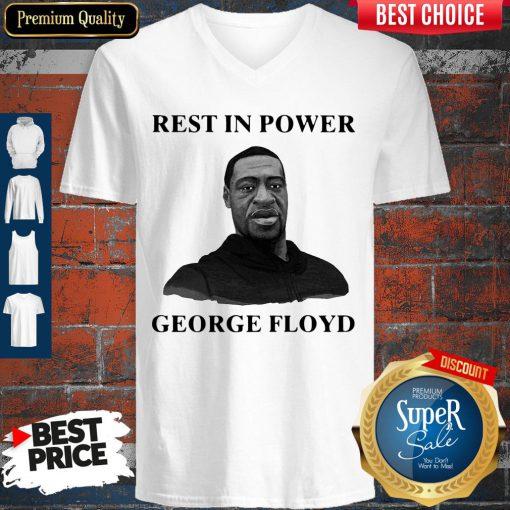 Premium Rest In Power George Floyd V-neck