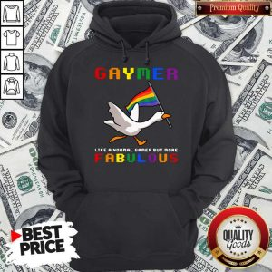 Pretty LGBT Duck Gaymer Like A Normal Gamer But More Fabulous Hoodie