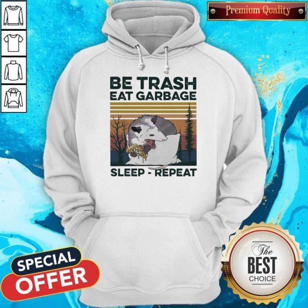Pretty Racon Be Trash Eat Garbage Sleep Repeat Vintage Hoodie