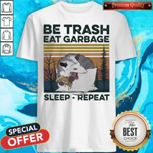 Pretty Racon Be Trash Eat Garbage Sleep Repeat Vintage Shirt