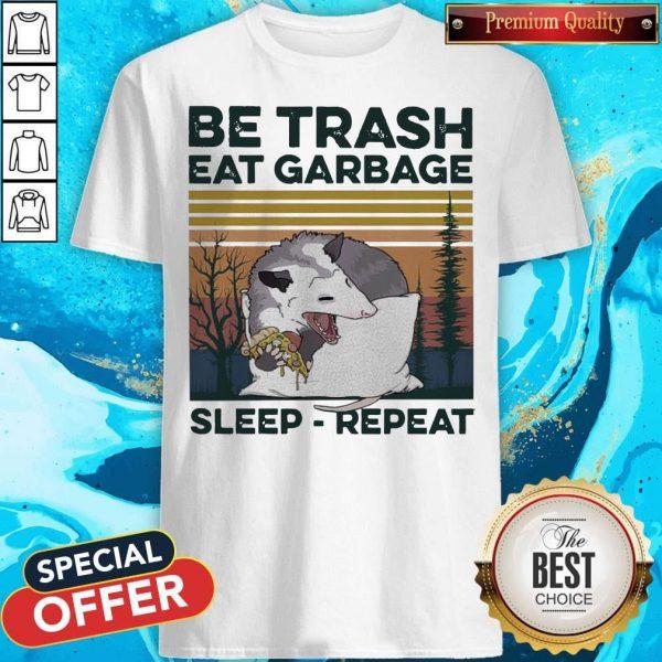 Pretty Racon Be Trash Eat Garbage Sleep Repeat Vintage Shirt
