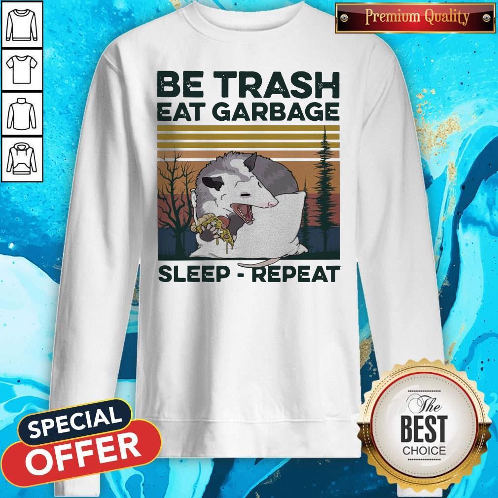 Pretty Racon Be Trash Eat Garbage Sleep Repeat Vintage Sweatshirt
