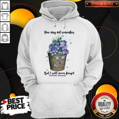 Pretty You May Not Remember But I Will Never Forget Alzheimer Awareness Hoodie