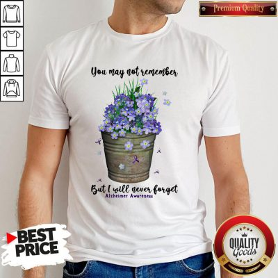 Pretty You May Not Remember But I Will Never Forget Alzheimer Awareness Shirt