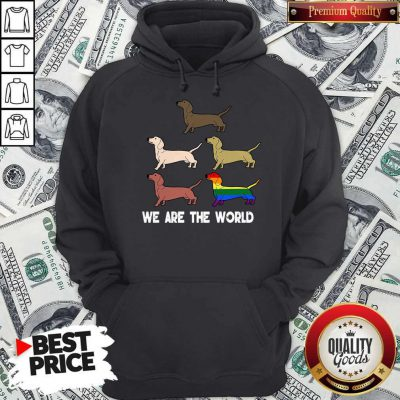 Top LGBT Dogs We Are The World Hoodie