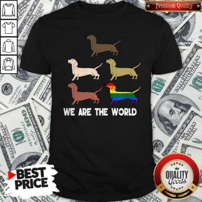 Top LGBT Dogs We Are The World Shirt