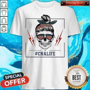 Top Skull #Cnalife American Flag Shirt