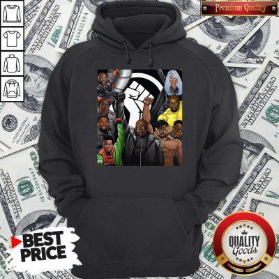 Top Superheroes No Justice No Peace Black Lives Matter Hoodie