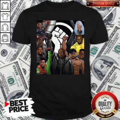 Top Superheroes No Justice No Peace Black Lives Matter Shirt