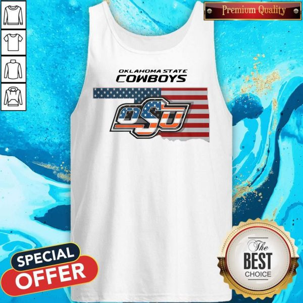 Awesome Oklahoma State Cowboys Osu American Flag Tank Top