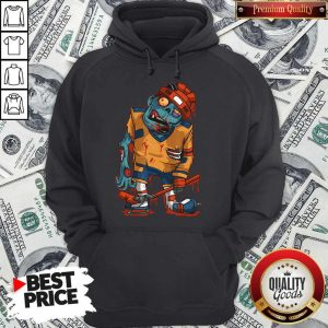 Awesome Zombie Ice Hockey Player Halloween Trick Or Treating Hoodie