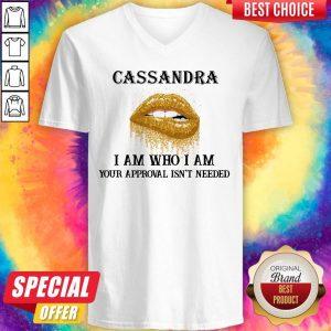 Funny Lip Diamond Cassandra I Am Who I Am Your Approval Isn't Needed V-neck