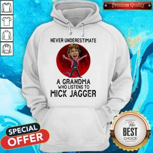 Funny Never Underestimate A Mother Who Listens To Mick Jagger Moon Hoodie
