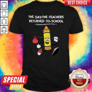 Funny The Day The Teachers Returned To School #2020pandemicsurvivors Shirt