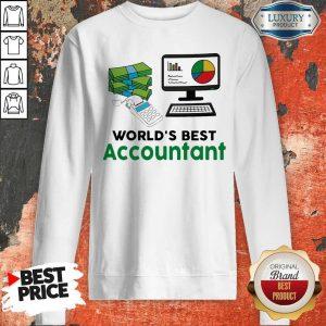 Funny Worlds Best Accountant Computer Bill Money Sweatshirt