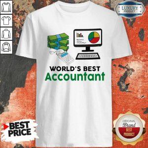 Funny Worlds Best Accountant Computer Bill Money T-Shirt