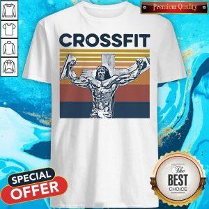 Good Jesus Strong Crossfit Vintage Shirt