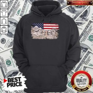 Nice 45th Added Rushmore American Flag Hoodie