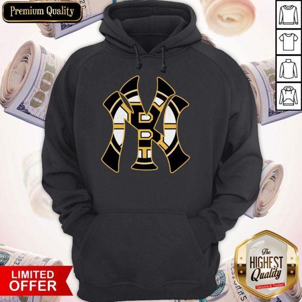 Nice Boston Bruins Inside New York Yankees Hoodie